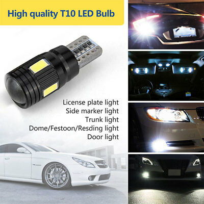 T10 6 LED Light Durable Bright Car Wedge Light Rear Stop Light Parking Tail