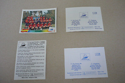 Panini WM 98 WK WC World Cup France 98 seltene Spanier in Varianten