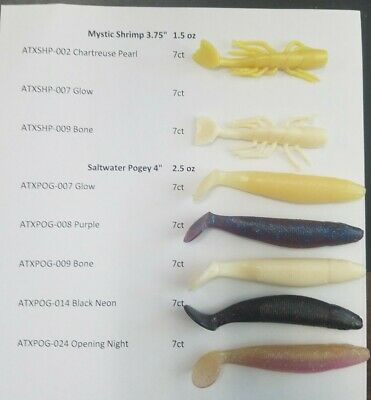 """Attraxx with Sci-X™ Soft Plastic Fishing Lure 3.75/"""" Shrimp Opening Night 7 ct"""