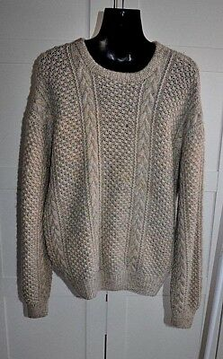 Vintage 80's HAND KNITTED Textured Jumper