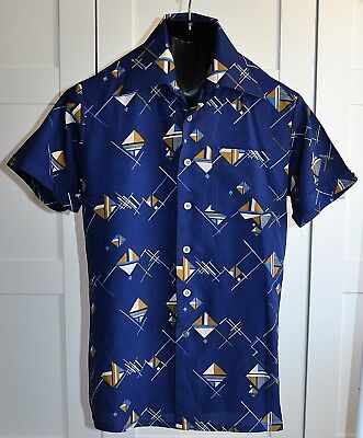 Mens Vintage 70's CLASSIC COLLECTION Geometric Print Shirt