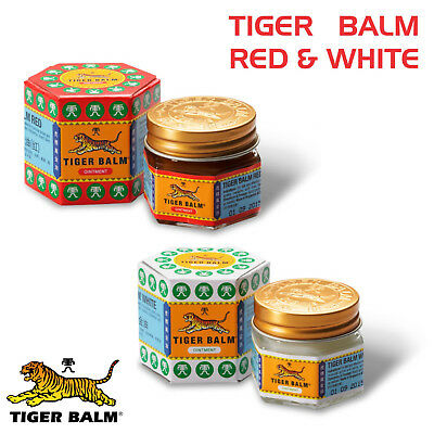 White - Red Tiger Balm Herbal Relief For Aches & Pain 21Ml