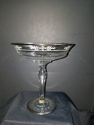 Rockwell Silver Hlass Compote marked on base