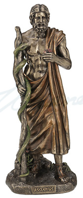 Asclepius - Greek God Of Medicine Sculpture Statue Figurine - GIFT BOXED