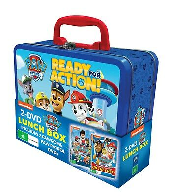 Paw Patrol Lunchbox DVD with Lunchbox Region 4 NEW