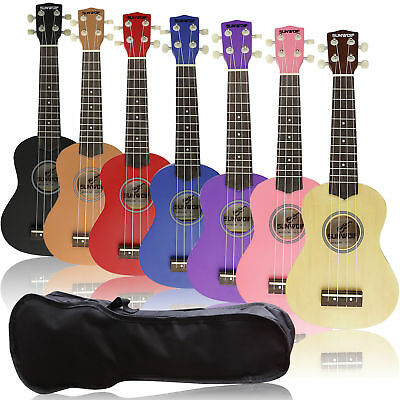 Kids Beginner Ukulele Ukelele Soprano Instrument Hawaii Solid Guitar + Free Bag