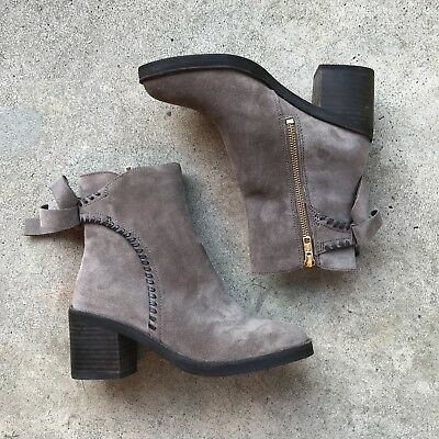 6a1359fc8b8 NEW* IN BOX $185 Ugg Australia Fraise Black Whipstitch Suede Ankle ...