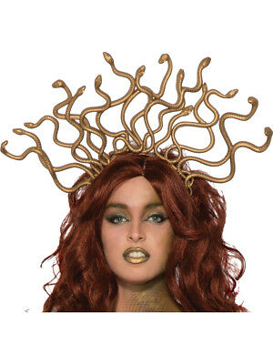 Womens Ancient Greek Monster Medusa Snake Headpiece Costume Accessory