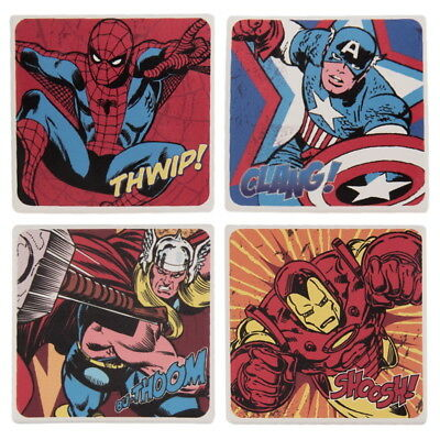 Marvel Comics 4-Piece Ceramic Coaster Set [Brand New]