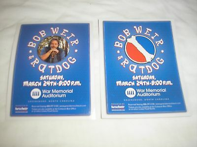 BOB WEIR RATDOG Concert Promo Handbills Lot of Three (3) 2-Sided Authentic