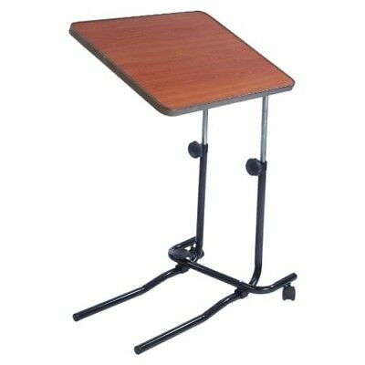 Portable Hospital Tray Over Bed Chair Table Mobility Elderly Food Disability