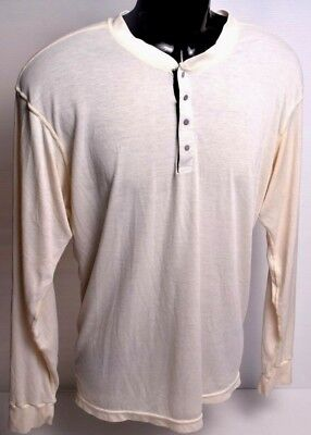 Patagonia XXL 2XL Capilene Silkweight Long Sleeve Men's Large L cream hiking EUC