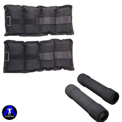 Wrist Ankle Weight Straps Workout Weighted Resistance + Soft Foam Dumbbell