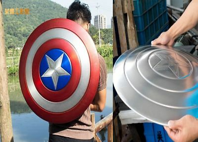 Captain America 1:1 Shield Full Aluminum Metal Shield Cosplay Unpainted/Painted