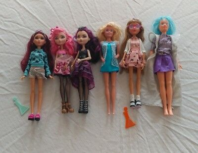 Lot of six rare dolls! Project Mc2 Jem and the Holograms!! Ever After High!
