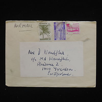 ZG-C147 Bangladesch - fish, air mail to Schweiz cover