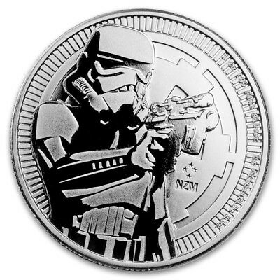 2018 1oz Silver Stormtrooper (Star Wars) Bullion Coin, New, Uncirculated