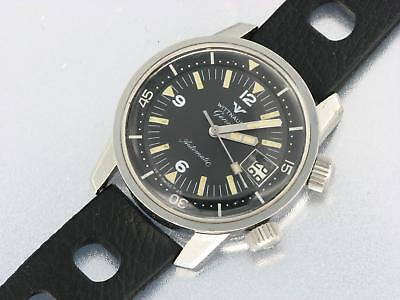 Wittnauer Geneve Automatic Mens Stainless Steel Vintage Watch Military Watch
