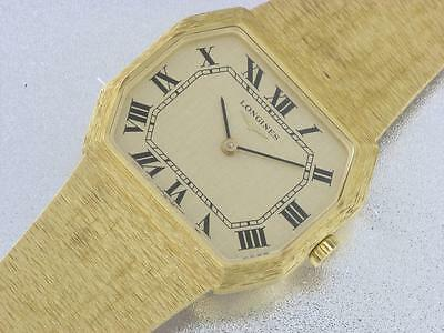 Longines 18K Yellow Gold Mens Mechanical Watch - Luxury Dress Watch