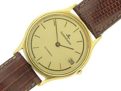 Jaeger Le Coultre 18K Yellow Gold Automatic Mens Vintage Collectable Watch