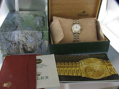 Rolex Datejust Women's Steel & Gold Automatic Ladies Watch with Rolex Box Papers