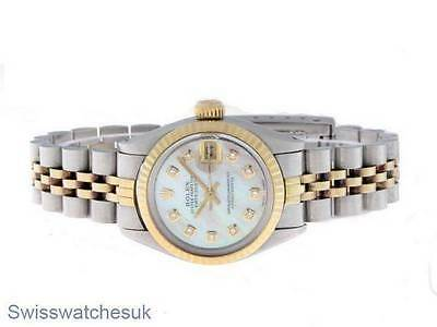 Rolex Ladies Datejust Watch Stainless Steel & Yellow Gold Diamond Automatic Lady