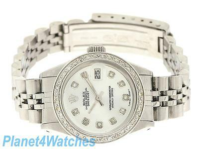 Rolex Ladies Datejust Watch Stainless Steel Diamond Automatic Rolex  Oyster Lady