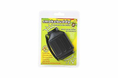 Black Smoke Buddy Junior Personal Air Purifier Cleaner Filter Removes Odor!