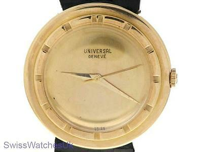 Universal Geneve Vintage 18 K Rose Gold Mens Mechancial Watch