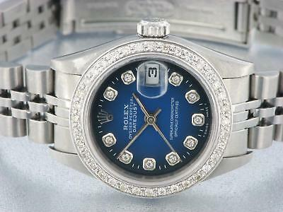 Rolex Date Women's Diamond Watch Automatic Oyster Stainless Steel Lady Watch