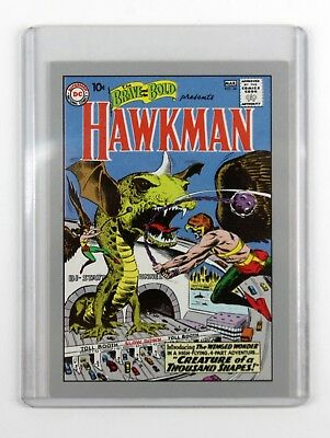 Signed Joe Kubert Dc Comics The Brave And The Bold Hawkman Comic Book Card 172