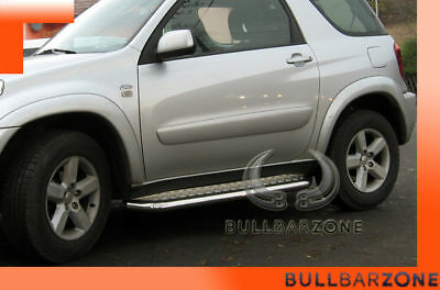 Toyota Rav4 Ii 2000-2005 Marche-Pieds Inox Plat / Protections Laterales