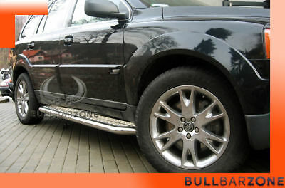 Volvo Xc90 2002-2007 Marche-Pieds Inox Plat / Protections Laterales