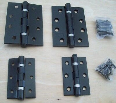 PAIR OF Black stainless steel fire rated GRADE 13 1 HR Butt door gate Hinges