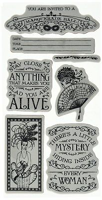 Graphic 45 IC0384S Midnight Masquerade Cling Stamp Set 2 of 3