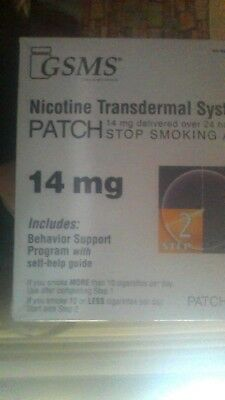 GSMS Nicotine Transdermal System Patch 14mg 14 Patches