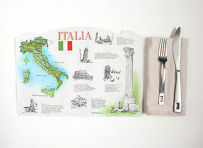 20 Pack Of Paper Placemats Italy Design Free Shipping