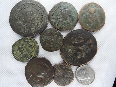 MC-3  MIXED LOT OF BYZANTINE  RARE ANCIENT COINS-- 8 pcs