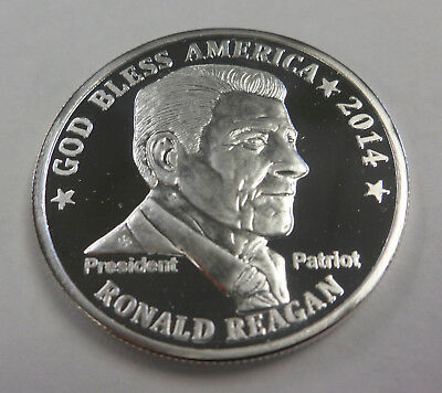 "2014 RONALD REAGAN 1 Ounce Oz Silver .999 Round ""DON'T TREAD ON ME"""