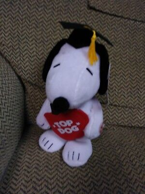 Graduation Snoopy Top Dog plays Pomp & Circumstance Class  2018 gift Senior NWT