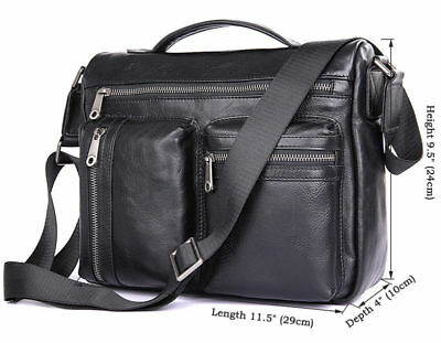 d5084567c544 J.M.D Mens Real Leather Durable Briefcase 11.5 Inch Smooth Messenger Tote  Bag