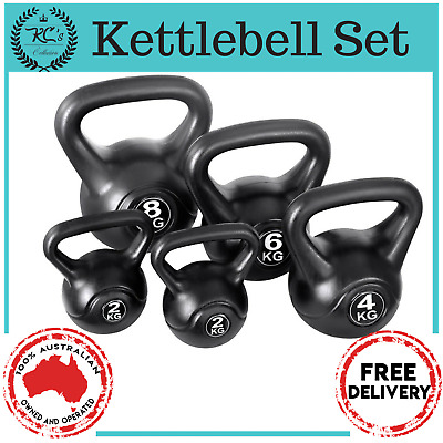 Kettle Bell Kit Weight Kettlebell Fitness Exercise Home Gym Everfit 22Kg