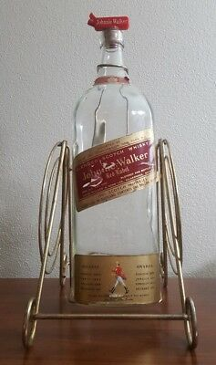 Johnnie Walker Red Label 1 Gallon Bottle Red Nice Swing Cradle
