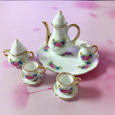 1:6 Scale Tea Set For Barbie Fashion Royalty Philip Doll China Porcelain 8pc New