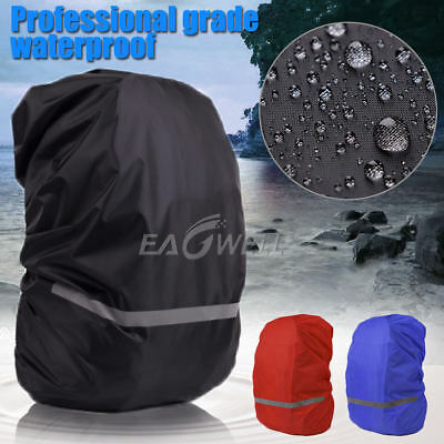 Waterproof Dust Rain Cover For 18L-55L Backpack Rucksack Bag W/ Reflective Band