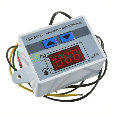 NEU DC 12V Digital LED Temperature Controller 10A Thermostat Switch Probe