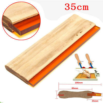 350mm 14'' Silk Screen Printing Squeegee 65 Durometer Wooden Handle Rubber Blade