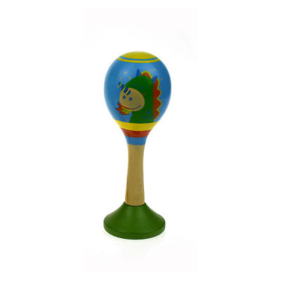 DRAGON Maracas Blue & Green WOODEN Baby BOY GIRL Maraca Toy SHOWER GIFT 0mths+