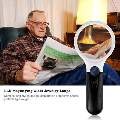 Best Quality 3 LED Light 3X 10X Illumination for Hand-Held Magnifier Magnifying