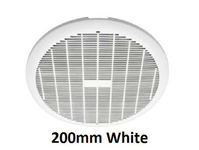 Heller 200mm White Exhaust Fan Laundry Bathroom Ventilation Ceiling Round